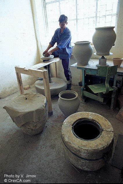 Pottery workshop. Andijan