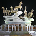 Night view of the Monument of Turkmen Horses. Ashgabat pictures