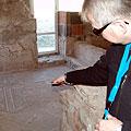 Mosaic  floor in Garni — Мозаичный пол, обнаруженный при расчистке древних сооружений в Гарни