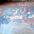 Mosaic  floor in Garni — На светло-зеленом фоне моря изображены божества, мифологические существа