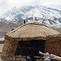 Kyrgyz yourt on Karakuli lake