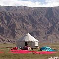 Tajik yurts in Tashkurgan