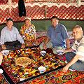 Pictures of Kazakh yurts near Nurata
