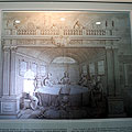 """Engraving in Ulugbek Observatory — Гравюра Голландского художника XVII в. с надписью над изображением Улугбека """"Преемник, серьёзно дело вручаю"""" - где Улугбек по правую руку от богини астрономии Урания. The engraving from a 17th century Dutch artist, with the inscription over the image of Ulugbek """"I have presented my case seriously"""" - where Ulugbek stands on the right arm of the goddess of astronomy, Urania."""