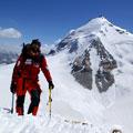 Karl Marks peak — View of Karl Marks peak (6700 m) from Oval top (6000 m) Вид на пик Карла Маркса (6700 м) с вершины  Овальная  (6000 м)