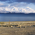 Lake  Karakul  (The height of the lake 4,100 m)