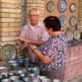 Мастерская керамиста Рустама Усманова в Риштане