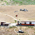 Border post in Afghanistan, Panj River — Пограничный пост в Афганистане река Пяндж