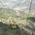 Mountain resorts of Uzbekistan. Cable way lift in Beldersay gorge