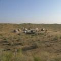 Yurts in Kizil-Kum desert