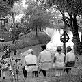 Evening in the park —        Вечером в парке. 1934. Макс Пенсон  Evening in the park. 1934. M. Penson