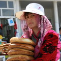 Lady with bread, Samarkand