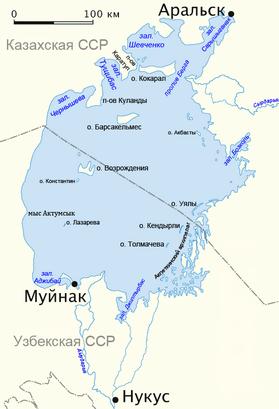 Аральское море 1960 год