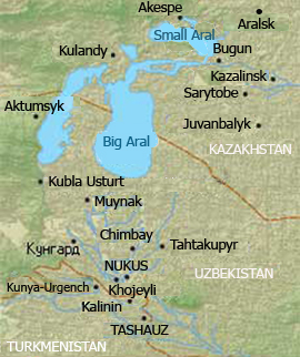 Aral Sea map