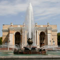 Fountain near Opera and Ballet Theatre named after Alisher Navoi, Tashkent