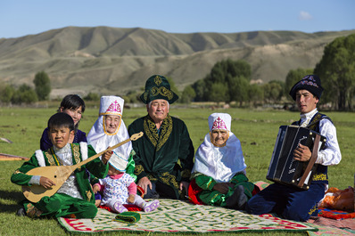 Traditional Kazakh Family