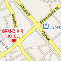 Location map to  Grand Mir Hotel