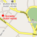Location map to  Gulnara Guest house