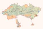 Map of Ferghana province.