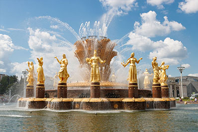 Friendship of Nations Fountain, Moscow, Russia