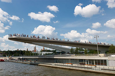 Floating Bridge over the Moscow River, Moscow, Russia