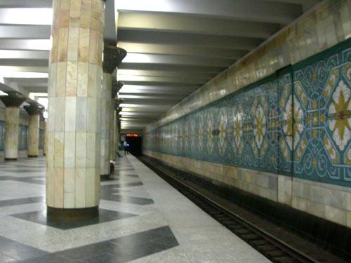 Переход Ташкентское метро.