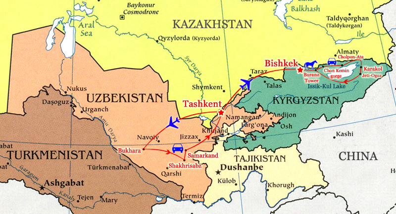 Combined tour to Uzbekistan and Kyrgyzstan Silk Road tours in