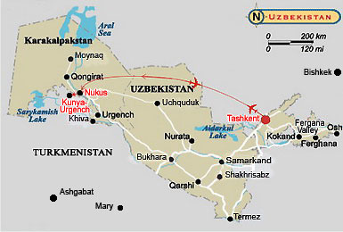 Tour to Kunya-Urgench - the Centre of World Heritage. Historical & Architectural Tourism in Uzbekistan