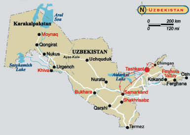 ����� ��� �� �����������. City tours, golf playing, visiting of theatre, and mountain trip in Uzbekistan
