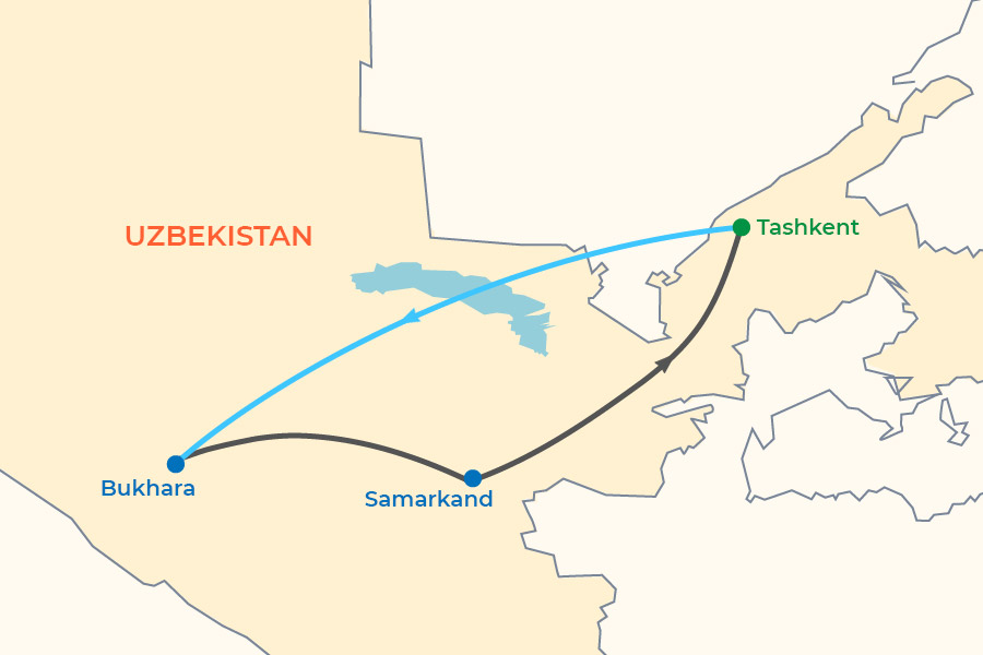 Winter Small Group Tour: New Year 2020-2021 in Samarkand map