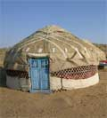 Pictures of Kazakh yurts near Nurata